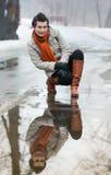 Портрет молодой женщины Стоковое Фото