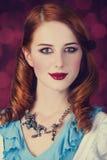 Портрет молодой женщины redhead Стоковое Изображение RF