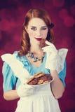 Портрет молодой женщины redhead Стоковое Изображение