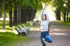 Портрет молодой женщины yogi Стоковые Изображения