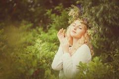 Портрет молодой красивейшей женщины Стоковое Изображение