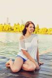 Портрет молодой красивейшей женщины Стоковые Изображения RF