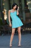 Портрет молодой красивейшей женщины outdoors Стоковое Изображение RF