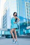 Портрет молодой красивейшей женщины outdoors Стоковые Изображения RF