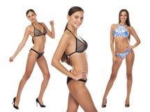 Портрет молодой красивой женщины в купальном костюме - бикини Стоковое Фото