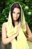 Портрет молодой красивой женщины Стоковое фото RF
