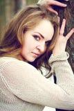 Портрет молодой красивой женщины стоковое фото