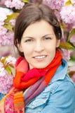 Портрет молодой красивой женщины Стоковое Изображение RF