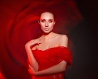Портрет молодой красивой сексуальной женщины Стоковое Изображение RF