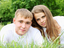 Портрет молодой пары Стоковое Изображение RF