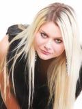 Портрет молодой привлекательной женщины меха стоковая фотография rf