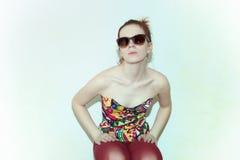 Портрет молодой red-haired женщины стоковые фото