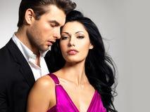 Портрет молодых красивейших пар в влюбленности Стоковые Фотографии RF