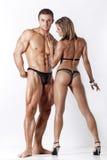 Портрет молодых пар пригодности Стоковые Изображения RF