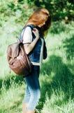 Портрет моды лета дамы очарования чувственной молодой стильной мы Стоковая Фотография RF