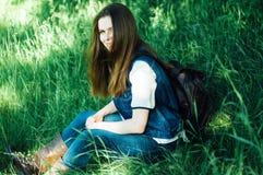 Портрет моды лета дамы очарования чувственной молодой стильной мы Стоковые Фото