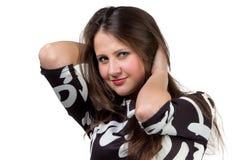 Портрет моды красивый усмехаться женщины стоковая фотография rf