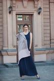 Портрет моды улицы маленькой девочки Стоковая Фотография RF
