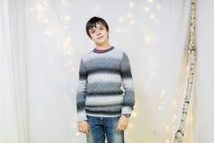 Портрет мужского подростка в студии Стоковое Изображение RF