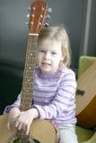 портрет музыканта ребенка Стоковая Фотография