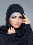 Портрет мусульманских женщин в hijab стоковые фото