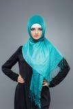 Портрет мусульманских женщин в hijab Стоковое Изображение
