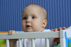 Портрет младенца 11 месяца Стоковые Изображения RF