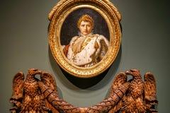 Портрет Наполеона на музее MBAM Стоковые Изображения RF