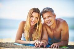 Портрет на пляже стоковая фотография rf