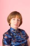 Портрет на розовой предпосылке Стоковые Фотографии RF