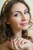 Портрет невесты Состав свадьбы Стоковые Фотографии RF