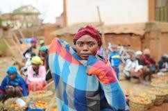 Портрет неопознанного человека в Мадагаскаре антенн Стоковое фото RF