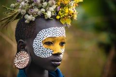 Портрет неопознанной женщины Surmi стоковая фотография