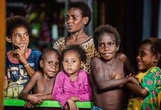 Портрет неопознанных детей папуасския Стоковые Изображения RF