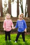 Портрет образа жизни идентичных близнцов Стоковые Фото