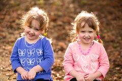 Портрет образа жизни идентичных близнцов Стоковые Фотографии RF