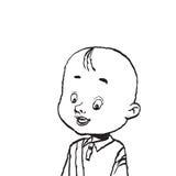 Портрет облыселой иллюстрации изолята мальчика Стоковое Фото