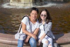 Портрет около фонтана Стоковая Фотография RF