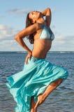 Портрет доминиканской девушки одевая бикини Стоковые Изображения RF