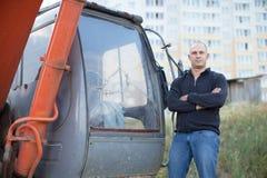 Портрет оператора трактора Стоковая Фотография RF