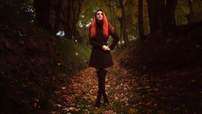 Портрет осени красивой женщины Стоковое Изображение RF