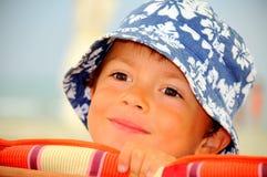 портрет отсутствующего мальчика далекий Стоковые Фотографии RF