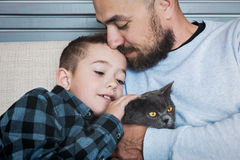 Портрет отца и сынка Стоковое Фото