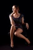 Портрет очарования красивой белокурой девушки Стоковое Фото