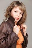 Портрет очарования красивой женщины Стоковые Фото