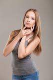 Портрет очарования красивой женщины Стоковое Изображение RF