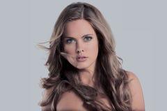Портрет очарования красивой модели женщины с frash makeu ежедневно стоковые фотографии rf