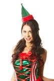 Портрет одежд эльфа красивой женщины нося Стоковое Фото