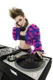Портрет панка DJ над белой предпосылкой Стоковая Фотография