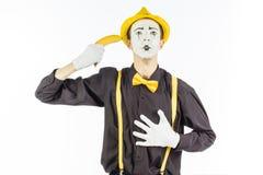 Портрет пантомимы в форме преступника, ganster гонка Стоковое Фото